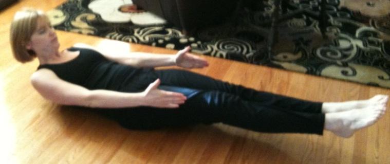 Stretch pose blurry