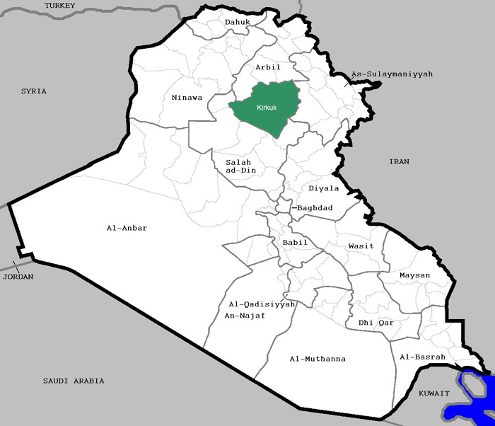 Kirkuk-Iraq-map
