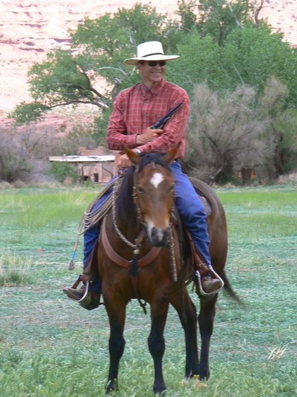 T on horseback