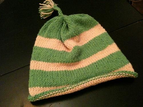 LO knit hat