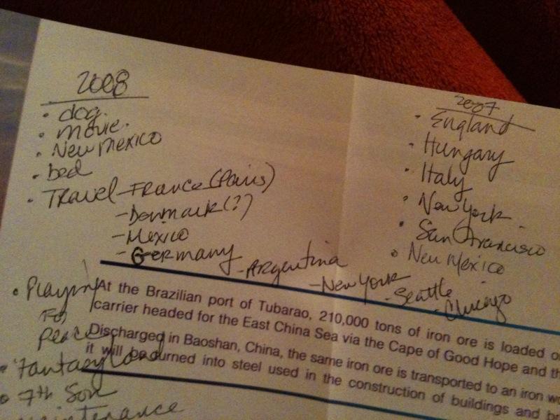 Lists 2007 2008