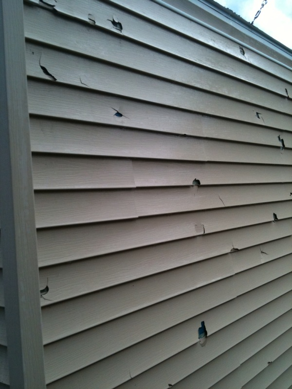 Hail garage 1