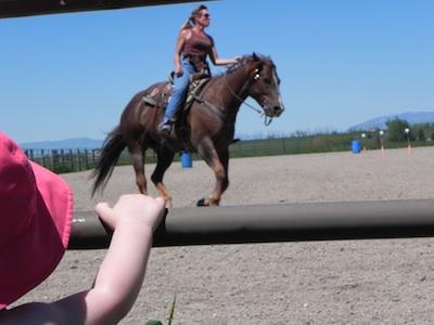 Suzie rides
