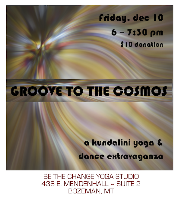 GROOVE TO THE COSMOS blog flyer