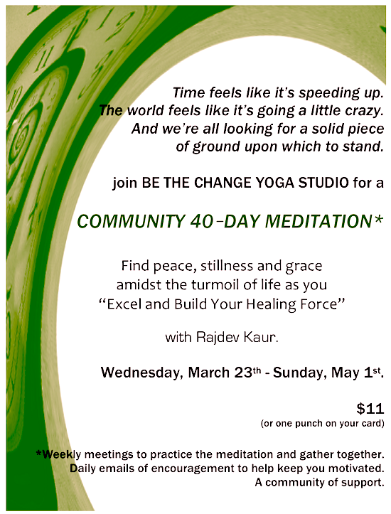 2011 BTCY 40 day meditation - excel & build your healing force