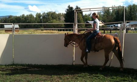 YC horseback on Red