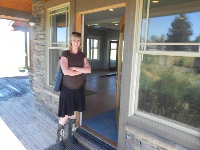 YC at front door